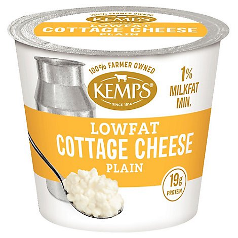 Kemps Cottage Cheese Small Curd Lowfat 1% Milk Fat Min - 5.64 Oz