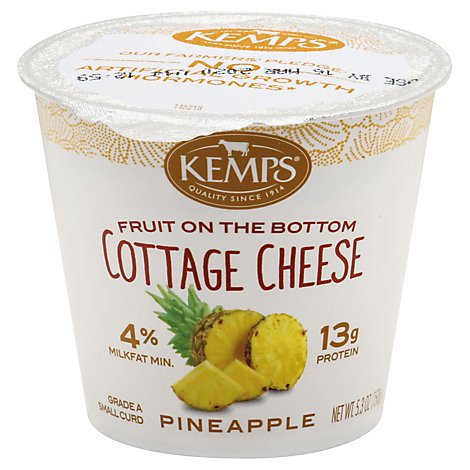 Kemps Fruit On The Bottom Cottage Cheese Pineapple - 5.3 Oz