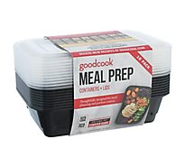 Good Cook Containers + Lids Meal Prep 1 Compartment 4 Cup - 10 Count
