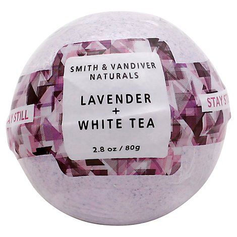 Smith & Vandiver Bath Bomb Stay Still Lavender + White Tea - 2.8 Oz