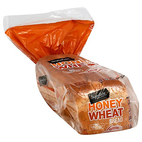 Signature Select Bread Honey Wheat - 20 Oz