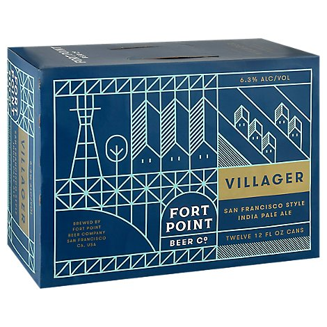 Fort Point Villager In Cans - 12-12 Fl. Oz.