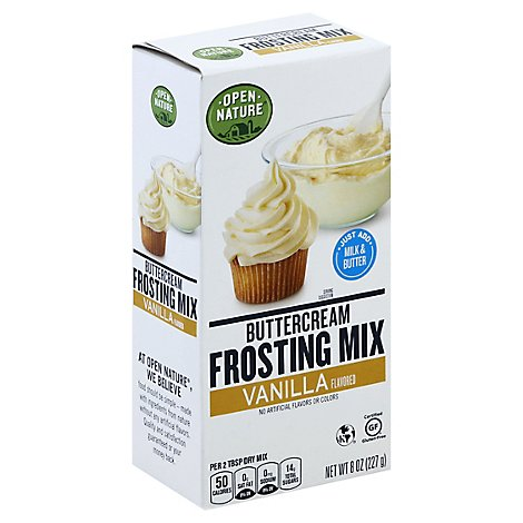 Open Nature Frosting Mix Buttercream Vanilla - 8 Oz