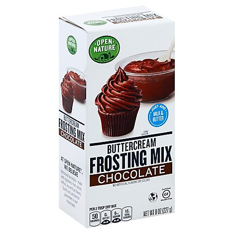 Open Nature Frosting Mix Buttercream Chocolate - 8 Oz