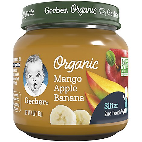 Gerber Organic 2nd Foods Baby Food Mango Apple Banana - 4 Oz