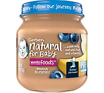 2nd Foods Natural With Vitamin C Banana Blueberry - 4 Oz