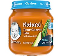 2nd Foods Natural With Vitamin C Pear Carrot Pea - 4 Oz