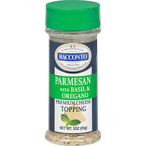Racconto Cheese Topping Parmesan With Basil & Oregano - 3 Oz