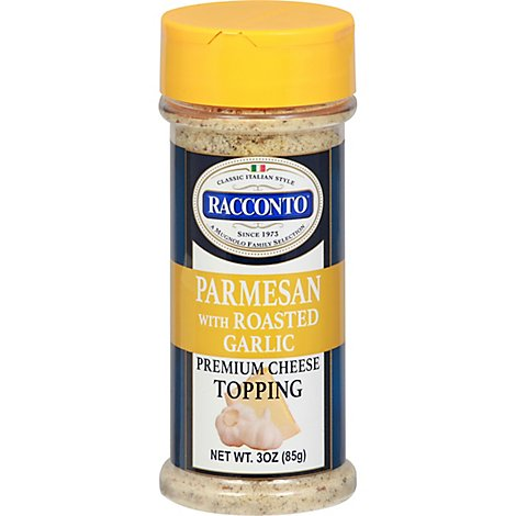 Racconto Cheese Topping Parmesan With Roasted Garlic - 3 Oz