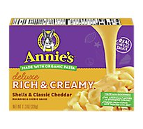 Annies Pasta Deluxe Mac & Cheese Shells & Classic Cheddar - 11.3 Oz