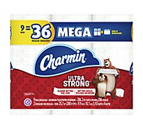 Charmin Ultra Strong Bathroom Tissue Mega Rolls 2 Ply Sheets - 9 Roll