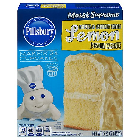 Pillsbury Moist Supreme Cake Mix Premium Lemon - 15.25 Oz