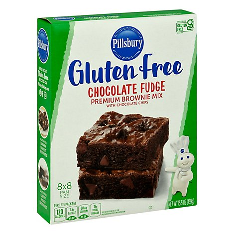 Pillsbury Gluten Free Brownie Mix Premium Chocolate Fudge with Chocolate Chips - 15.5 Oz