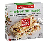 Good Food Flatbread Turkey Sausage Egg - 8.8 Oz