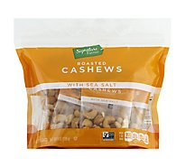 Signature Farms Cashews With Sea Salt Multipack - 8-1 Oz