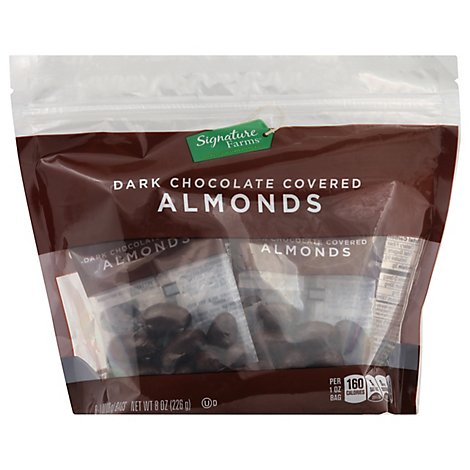 Signature Farms Dark Chocolate Almonds Multipack - 8-1 Oz