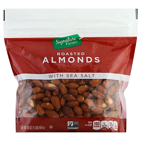 Signature Farms Almonds W/Sea Salt - 16 Oz