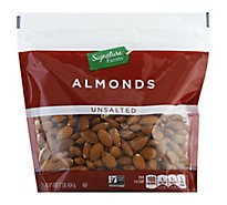 Signature Farms Almonds Raw Unsalted - 16 Oz