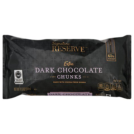 Signature Reserve Chocolate Chunks Extra Dark - 11.5 Oz