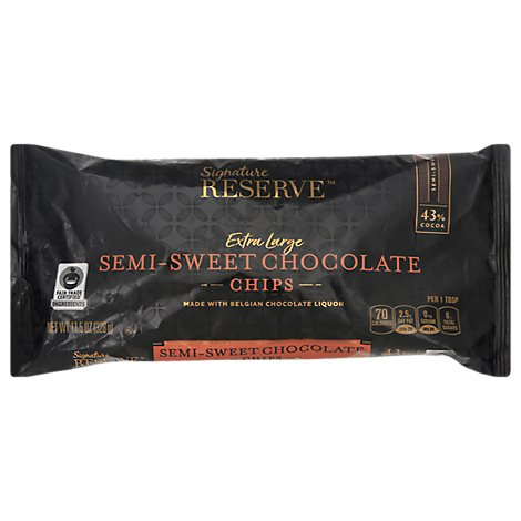Signature Reserve Chocolate Chips Semi Sweet X Lrg - 11.5 Oz