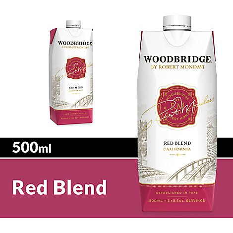 Woodbridge by Robert Mondavi Wine Red Blend Red Box - 500 Ml