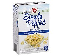 JOLLY TIME Microwave Popcorn Simply Popped Sea Salt Lightly Salted - 9 Oz