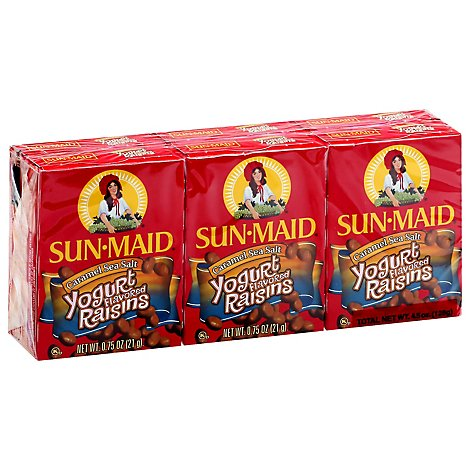 Sun-Maid Yogurt Raisins Caramel Sea Salt - 6-0.75 Oz