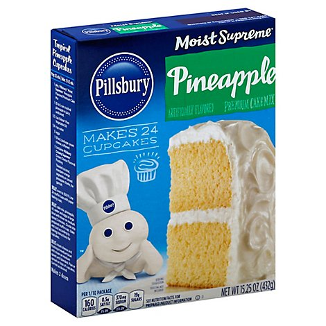 Pillsbury Moist Supreme Cake Mix Premium Pineapple - 15.25 Oz