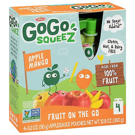 GoGo squeeZ Applesauce On The Go Apple Mango - 4-3.2 Oz