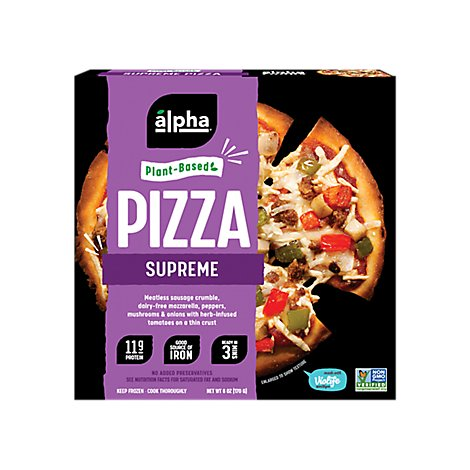 Alpha Foods Pizza Plant Based Supreme - 6 Oz