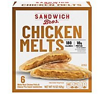 Sandwich Bros Sandwiches Flatbread Pocket Chicken Melts 6 Count - 15 Oz
