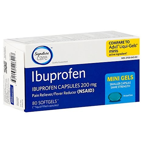 Signature Care Ibuprofen Mini Gels 200mg - 80 Count