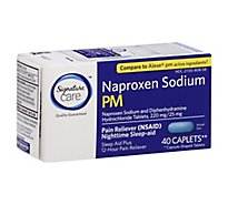 Signature Care Naproxen Sodium PM Caplets - 40 Count