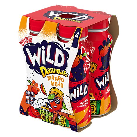 Danimals Wild Yogurt Drink Nonfat Mango Jojo - 4-7 Fl. Oz.