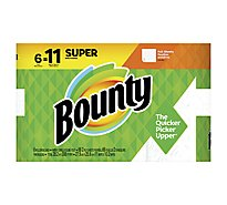 Bounty Paper Towel Super Rolls Full 2 Ply Sheets White - 6 Roll