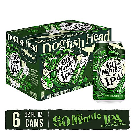 Dogfish 60 Minute Ipa In Cans - 6-12 Fl. Oz.