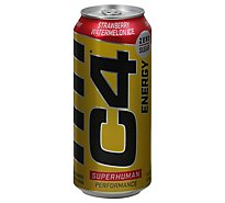 Cellucor C4 Original Energy Drink Zero Sugar Sparkling Strawberry Watermelon Ice - 16 Fl. Oz.