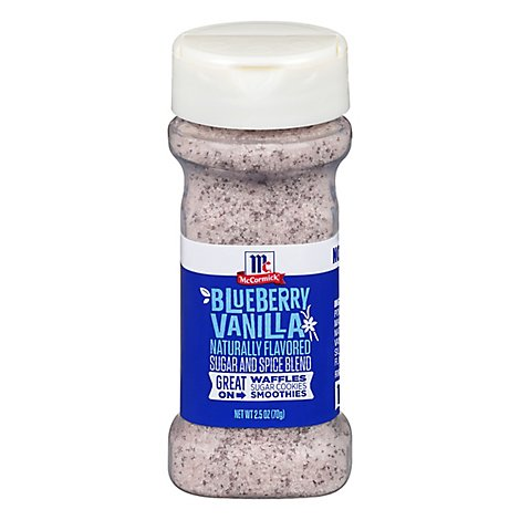 McCormick Sugar And Spice Blend Blueberry Vanilla Naturally Flavored - 2.5 Oz