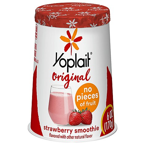 Yoplait Strawberry Yogurt Smoothie - 6 Oz
