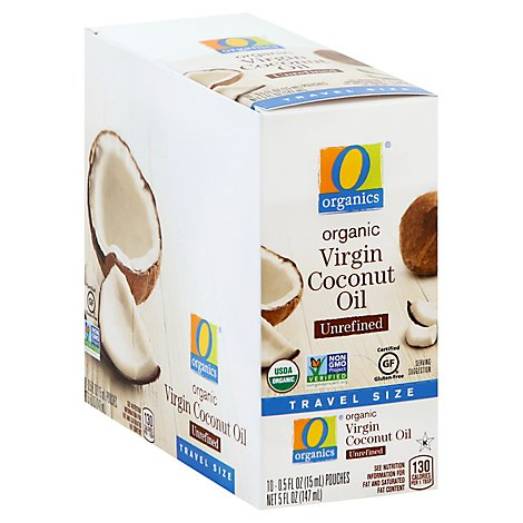 O Organics Organic Virgin Coconut Oil Unrefined Travel Size - 10-0.5 Fl. Oz.