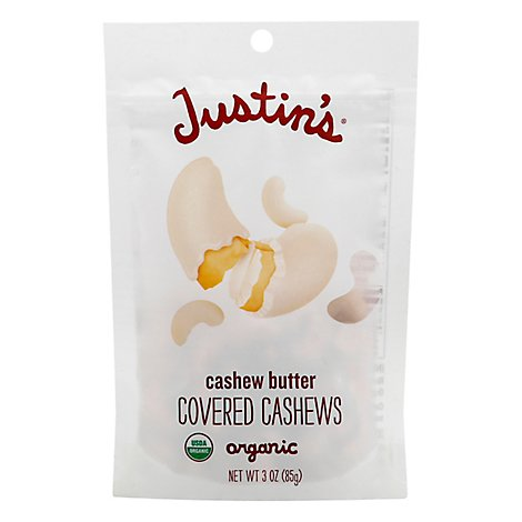 Justins Cashew Butter Covered Cashew Org - 3 Oz