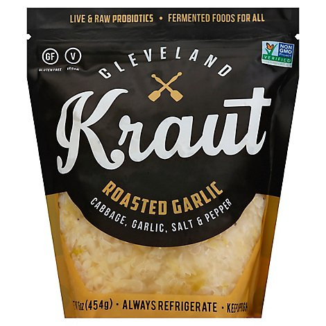 Cleveland Kraut Sauerkraut Roasted Garlic - 16 Oz