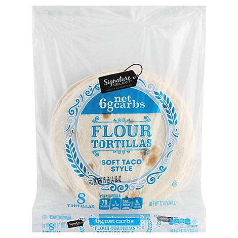 Signature Select Tortillas Flour Soft Taco Carb 8ct - 12 Oz