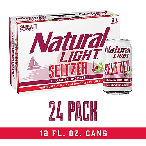 Natural Light Seltzer Catalina Lime In Cans