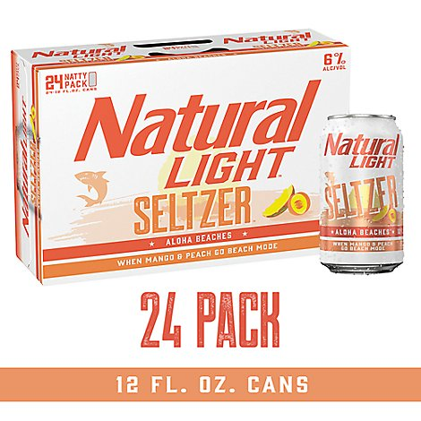 Natural Light Seltzer Aloha Beaches In Cans