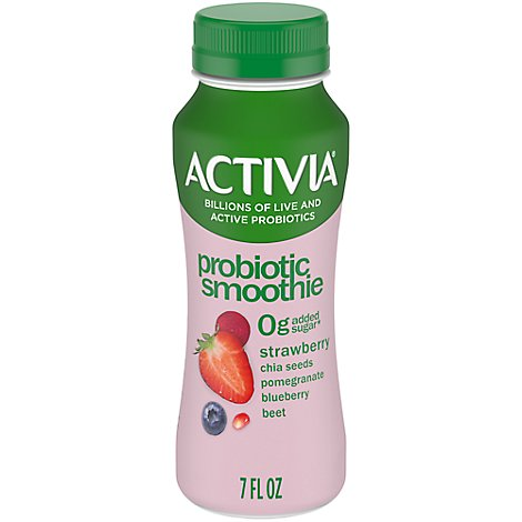 Activia Probiotic Smoothie Chia Seeds Strawberry Pomegranate Blueberry & Beet - 7 Fl. Oz.