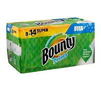Bounty Paper Towel Select A Size Super Rolls 2 Ply Sheets Prints - 8 Roll