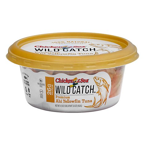 Chicken of the Sea Wild Catch Tuna Premium Ahi Yellowfin - 4.5 Oz