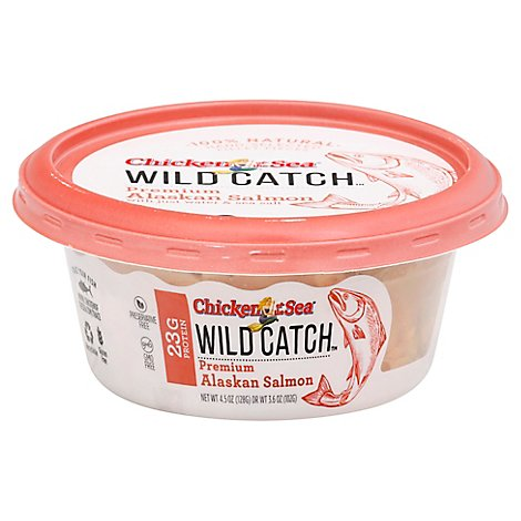 Chicken of the Sea Wild Catch Salmon Premium Alaskan - 4.5 Oz