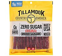 Tillamook 4 Oz Zero Sugar Original Smoked Sausage 12 Count